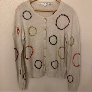 Boden Embroidered Circle Cotton/Cashmere Sweater